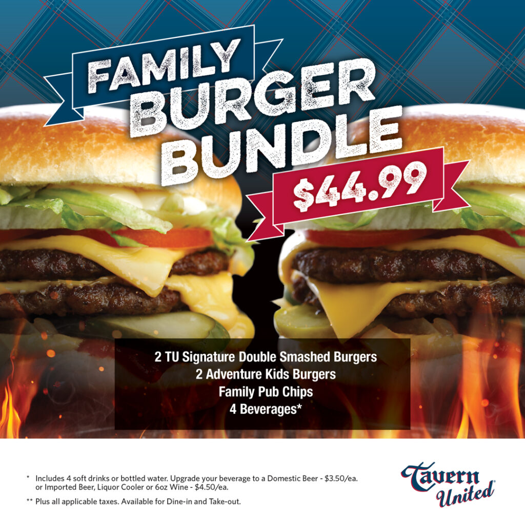 Tavern United Family Burger Bundle
