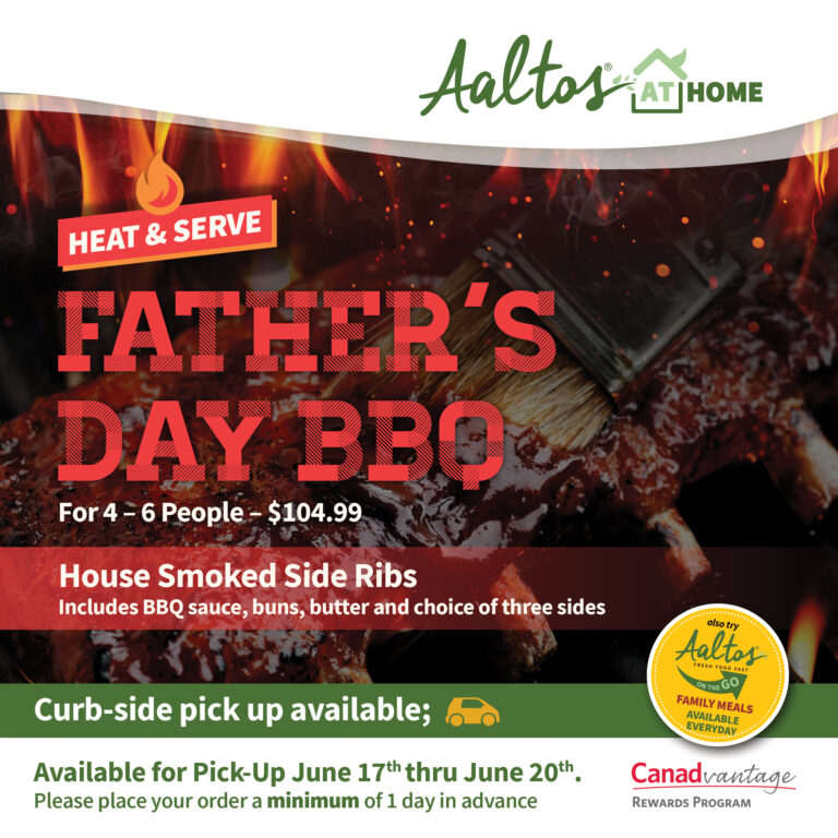 Aaltos at Home Father's Day Heat & Serve BBQ Special