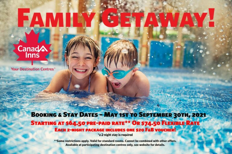 Family Getaway Package Offer Flexible and Pre Pay Rates!