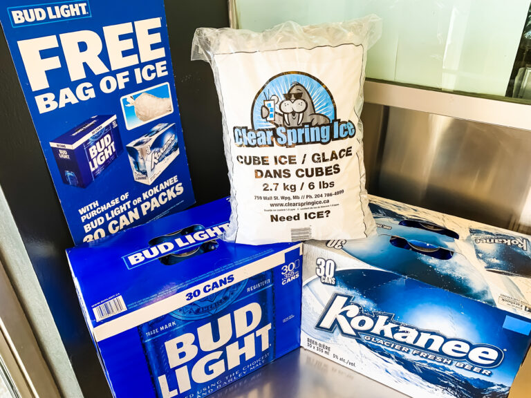 Buy a 30 pack of Bud Light or Kokanee and receive a Bag of Ice for FREE!