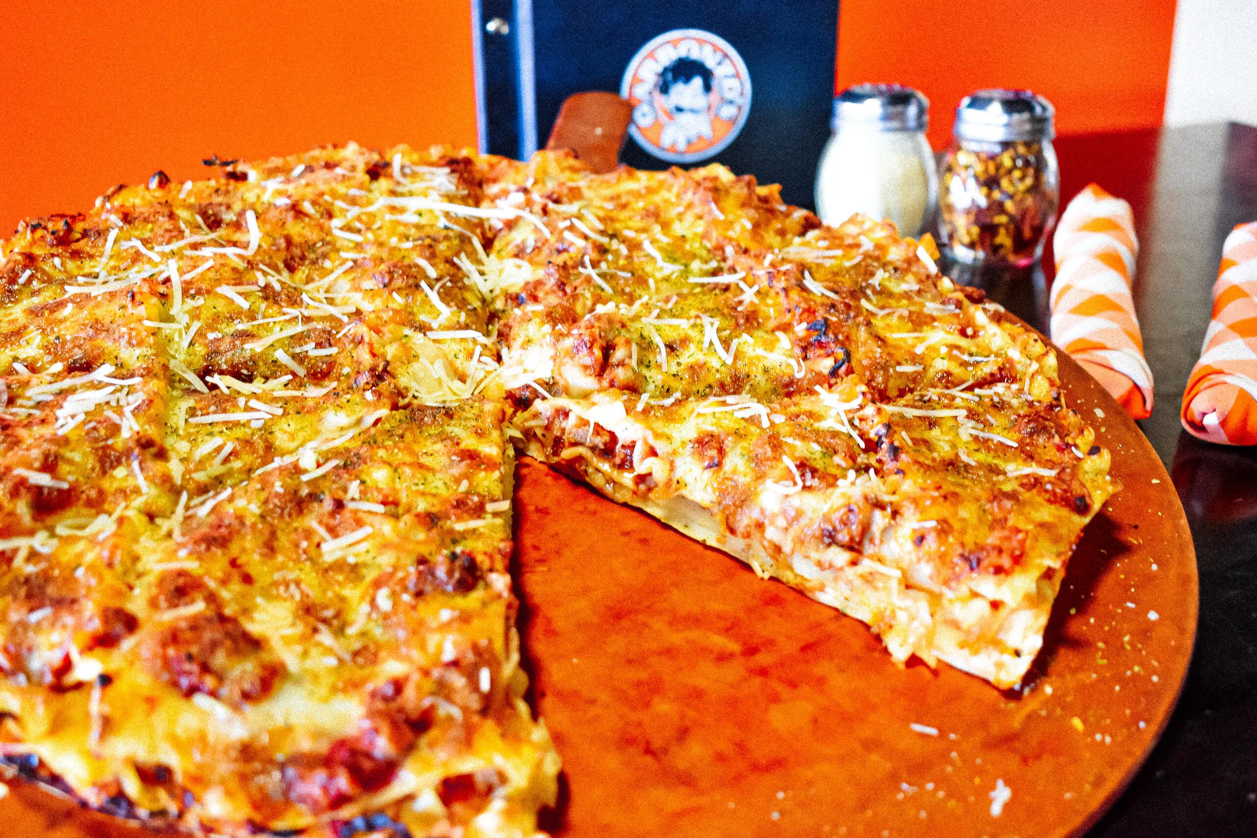 Garbonzo's Sports Pub HSC Lasagna Bolognese Pizza