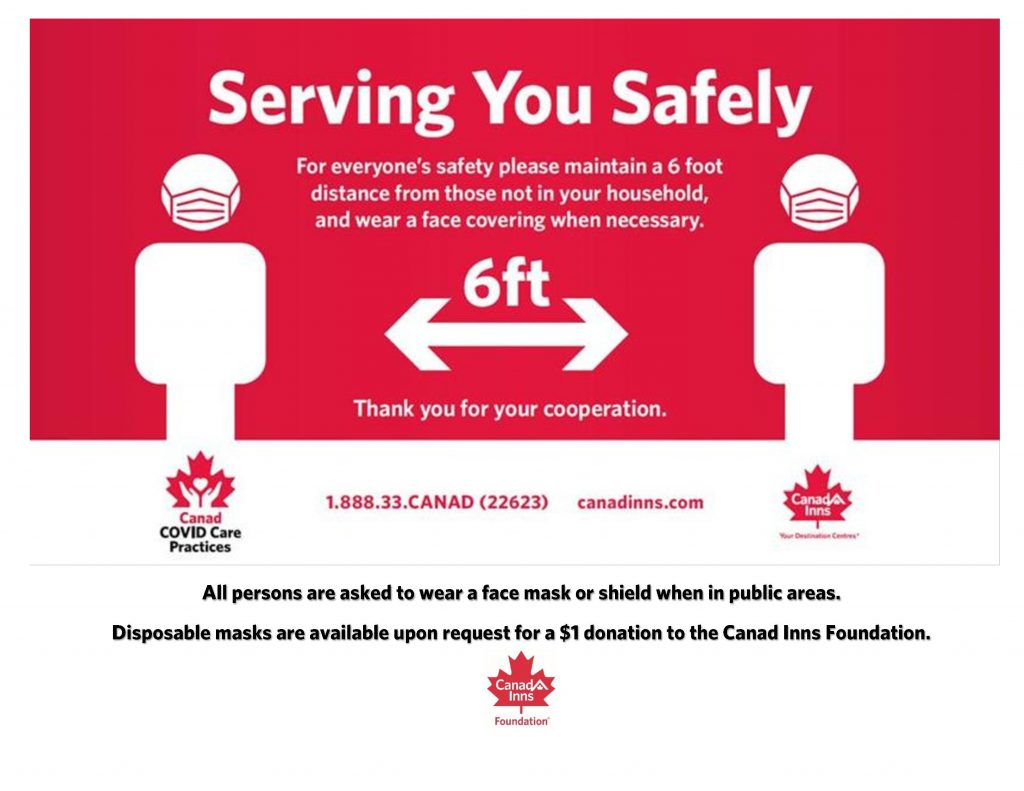 Social Distancing Policy and Procedures at Canad Inns Destination Centres