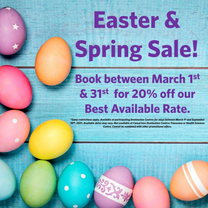 Canad Inns Rooms Easter and Spring Sale